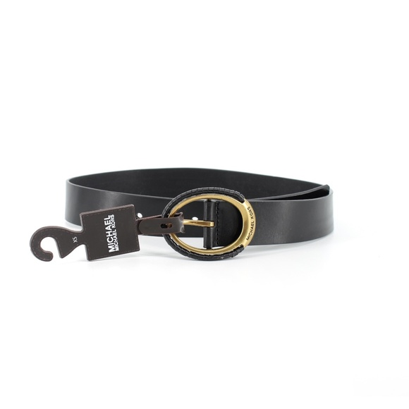 MICHAEL Michael Kors Accessories - Michael Kors | Leather Eclipse Belt Antique Gold